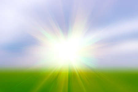 power projection: Sun and sun s rays in the field, Sun, Illustration