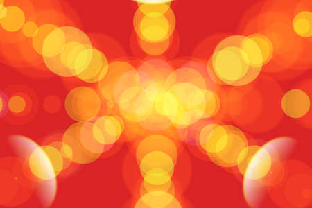 light transmission: Yellow,red and orange light in the shape of a circle, Soft lights, Illustration Stock Photo
