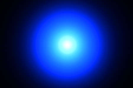 power projection: Light blue circle on a black background