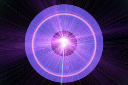 power projection: The purple circle on a black background, Purple circle, Illustration