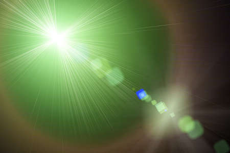 power projection: Green light in space, Green light,  Illustration