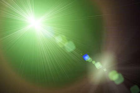 light transmission: Green light in space, Green light,  Illustration