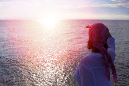 woman bathing: Enjoying the sea all senses, Photography