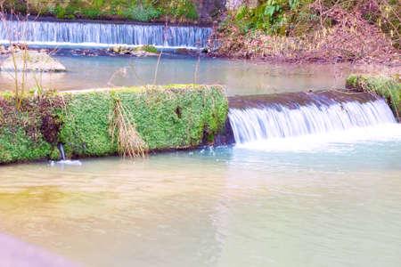 Beautiful small waterfalls of great natural beauty, Photography
