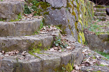 Beautiful stone staircase from ancient times, Stone Staircase from Ancient Times, Photography