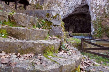 Magnificent Entrance Into the Cave, Photography Фото со стока
