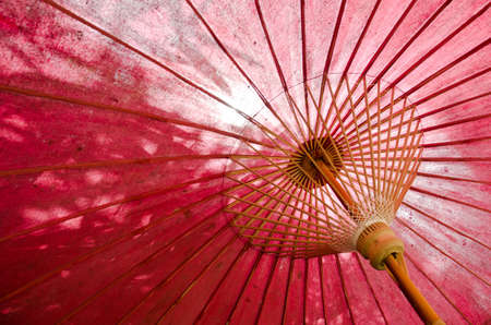 japanese traditional red umbrella  photo