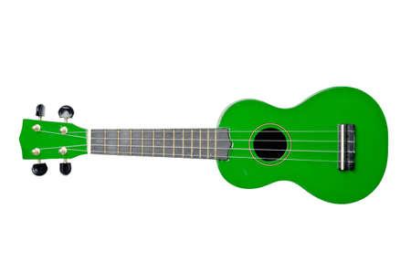 acoustical: ukulele isolated on white