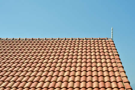 undulate: tiles roof background  Stock Photo