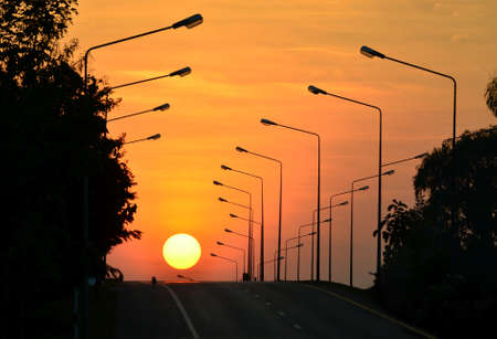 move ahead: Highway sunset