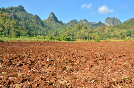 erosion: Beautiful farmland in Thailand  Stock Photo