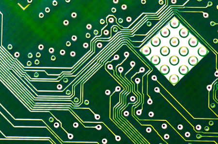pcb: closeup of electronic circuit board