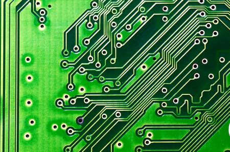 circuito electronico: Primer plano de la placa del circuito electr�nico