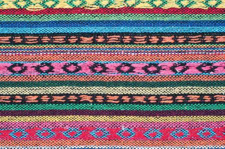Macro detail of handwoven fabric  Stock Photo