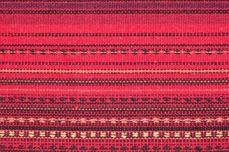 Macro detail of handwoven fabric  photo