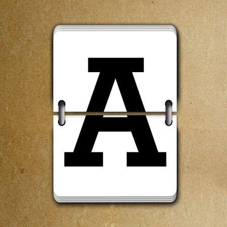 tableau: Letter A from mechanical scoreboard alphabet Stock Photo