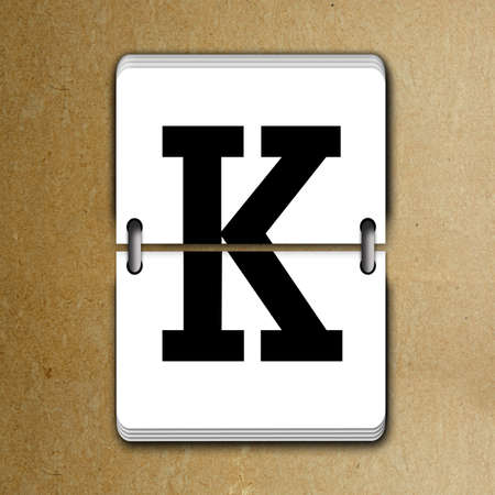 reversible: Letter K from mechanical scoreboard alphabet
