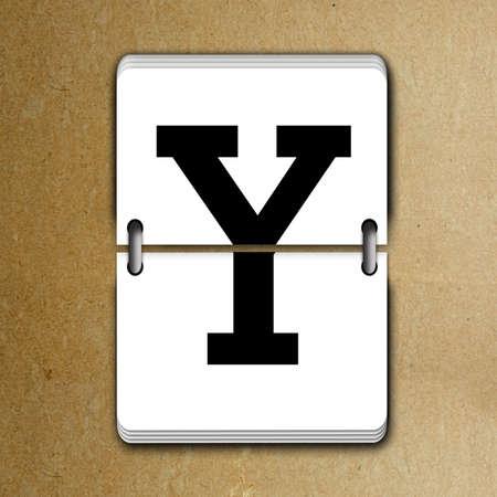 tableau: Letter Y from mechanical scoreboard alphabet Stock Photo