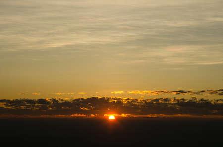 fondo azul: The sky. Sunrise Stock Photo