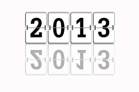 2013 New Year celebration  Stock Photo