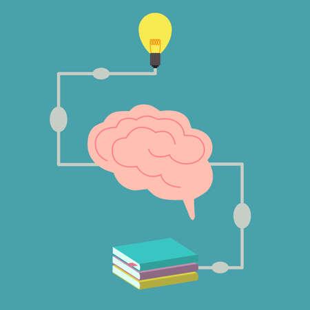 create idea: brain processing to create idea, vector. Illustration