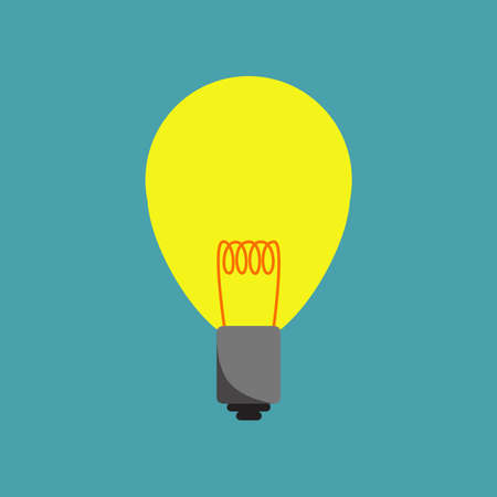 Light bulb icon. Flat design.  Illustration