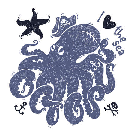 stylized image of an octopus