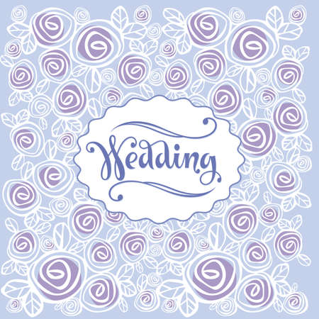 inscription: Wedding background and greeting inscription