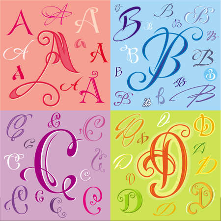 abcd: Letters ABCD