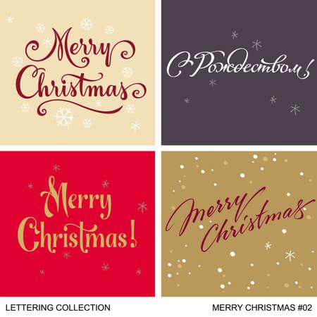 year greetings: Christmas and New Year greetings handmade set