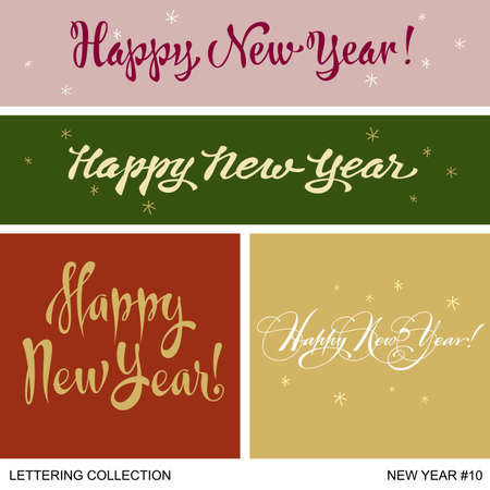 merry mood: New Year greetings handmade set Illustration