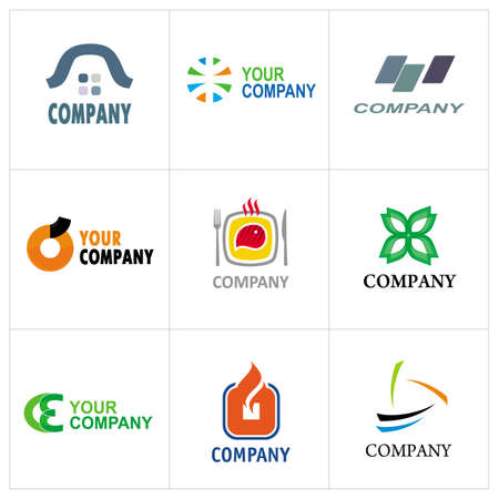 tree service business: Corporate Design Elements. Collection of corporate logo designs for your business.