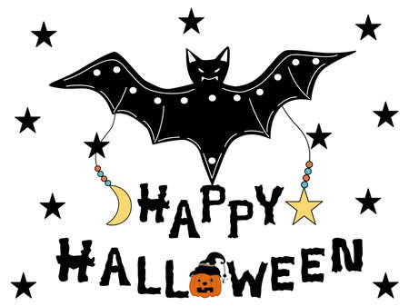 Happy Halloween collection designed with doodle style in black, white, orange tones for decorating items such as cards, room decorations, parties, t-shirts, stickers, hats, digital printing, mugs