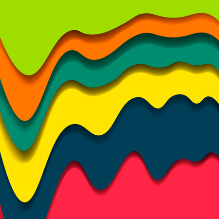 deep pink: Abstract colorful background .Colorful layers with realistic soft shadow. Abstract form waves .Vector illustration .Green, orange, yellow, deep blue, pink colors set.