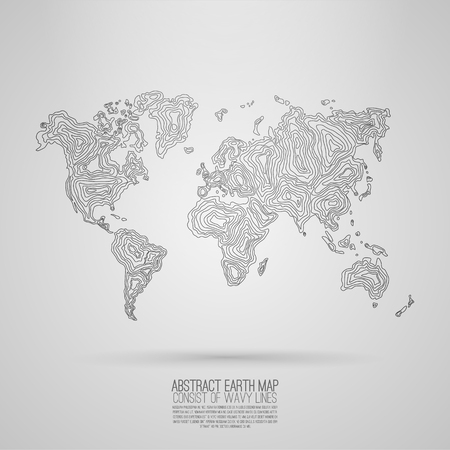 black and white map of earth