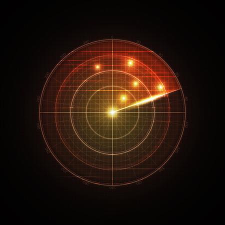 Realistic vector radar in searching .