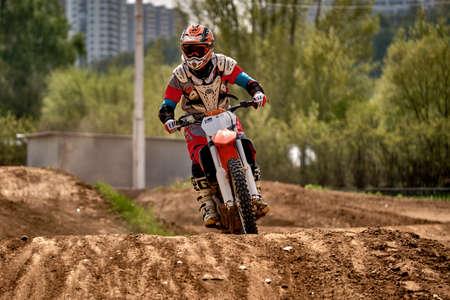 Allenamento di motocross a Mosca al Technical Sports Stadium 2019