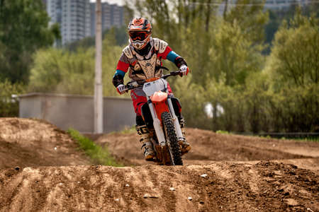 Motorcrosstraining in Moskou in het Technical Sports Stadium 2019