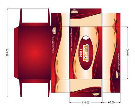 Box template Vector