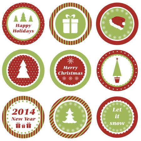 Cupcake toppers for Christmas and New Year