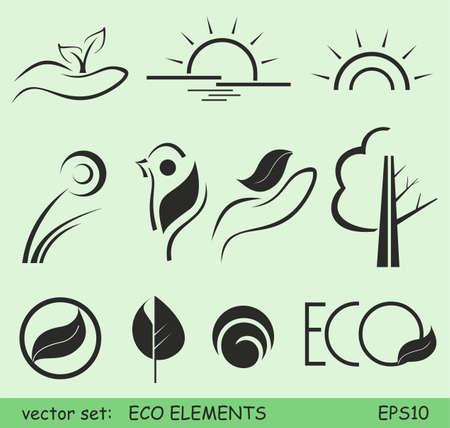 Eco elements Ilustracja