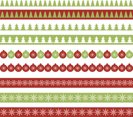 snowflake border: Christmas borders