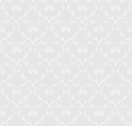 Light background with floral seamless pattern Vector