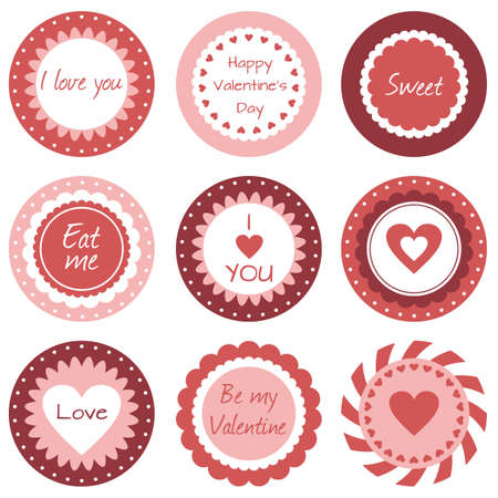 Set of tags for Valentine