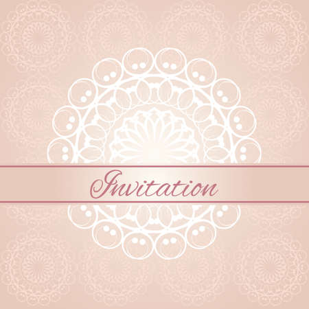 Vintage invitation card with pattern Vector