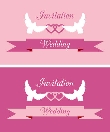 Covers for wedding invitation cards Vector