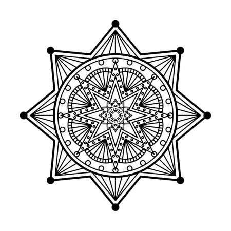 gabled: Abstract vector mandala ornament template