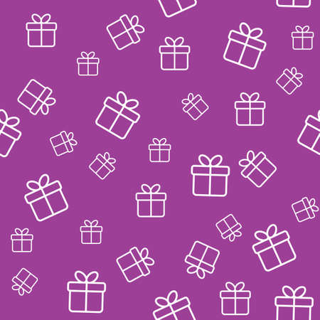 Seamless funny pattern with gift boxes  Wrapping or background Illustration