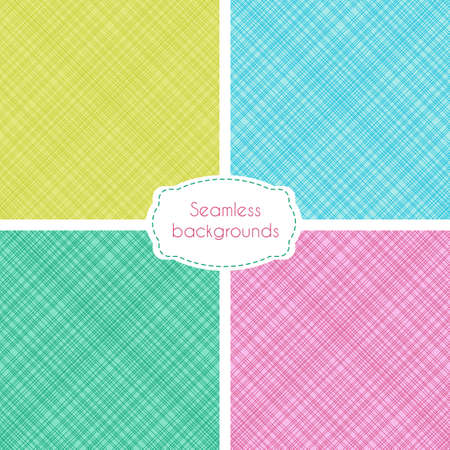a pink cell: Vector set of seamless patterns with irregular crossing lines