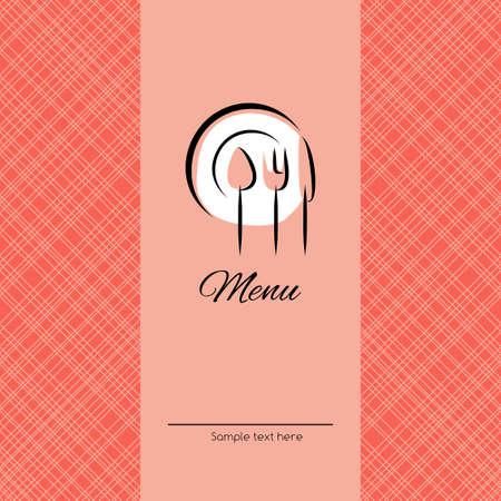simple meal: Vector cover for restaurant or cafe menu Illustration